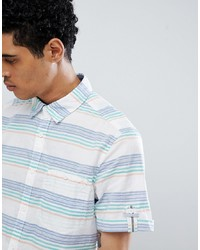 Esprit Slim Fit Short Sleeve Shirt With Stripe