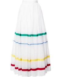 Maison Rabih Kayrouz Stripe Panel Full Skirt