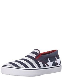 Sperry Top Sider Striper Slip On Stars And Stripes Fashion Sneaker