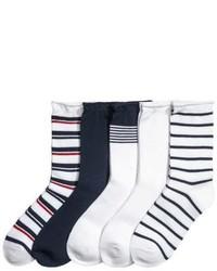 H&M 5 Pack Socks