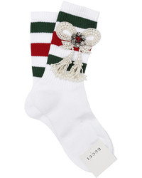 Striped socks w embellished bow medium 1155424