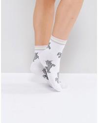 Asos Unicorn Stripe Welt Ankle Socks