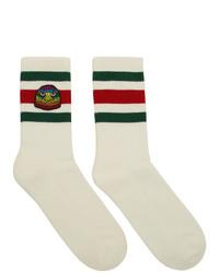 Gucci White Eagle Socks