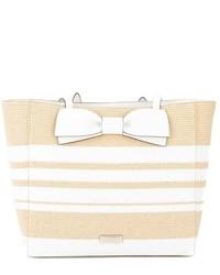 Natural and fresh white straw clet street blair tote medium 1252354