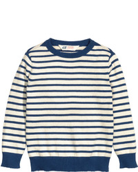 White Horizontal Striped Sweater