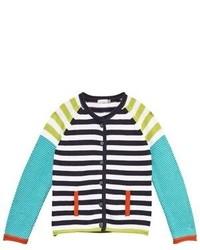 Catimini Multi Stripe Knitted Cardigan