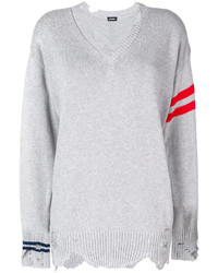 Diesel Striped Distressed Sweater