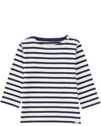Toddler Striped Long Sleeve Boat Neck T Shirt