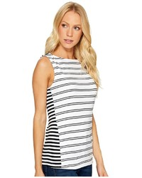 Three Dots Santorini Mykonos Striped Tank Top Clothing