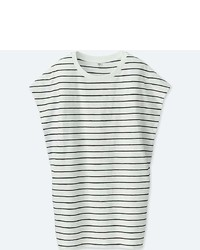 Uniqlo Slub Striped Short Sleeve Tunic