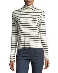 Audrey striped turtleneck cotton top medium 5207955