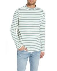 YMC Striped Mock Neck T Shirt