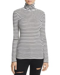 Splendid Striped Turtleneck Top