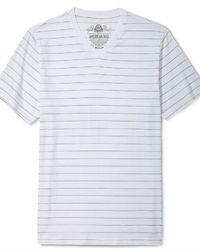 Shirt striped v neck tee medium 32739