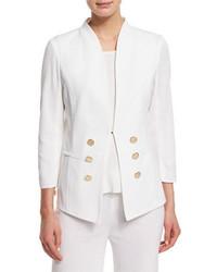 Misook 34 Sleeve Button Front Jacket Plus Size