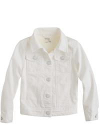 J.Crew Girls White Denim Jacket