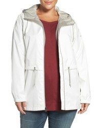 Plus size arcadia hooded waterproof casual jacket medium 793620