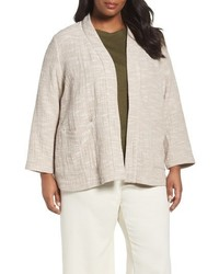 Eileen Fisher Plus Size Cotton Jacket