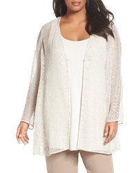 Eileen Fisher Plus Size Organic Linen Mesh Jacket