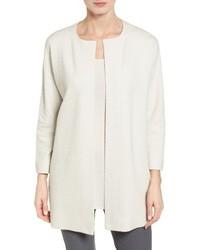 Eileen Fisher Silk Blend Jacquard Jacket