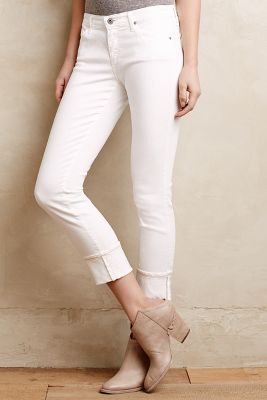 AG Jeans Ag Stevie Ankle Cuffed Jeans White 27 Denim  Where to