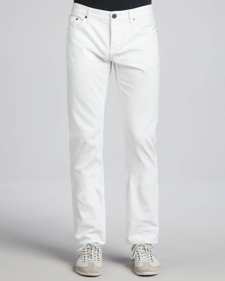 Burberry Brit Steadman Slim Fit Jeans White