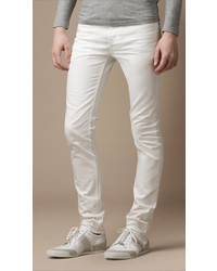 Burberry Shoreditch White Skinny Fit Jeans
