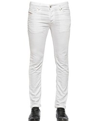 Diesel 17cm Sleenker Winkled Cotton Denim Jeans
