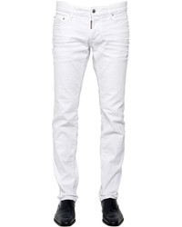 DSQUARED2 18cm Slim Fit Stretch Cotton Denim Jeans