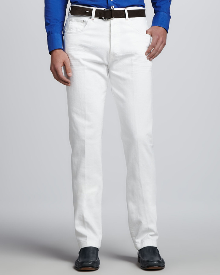 Kiton Five Pocket Jeans White