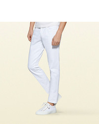 Gucci Resinated Cotton Skinny Jean