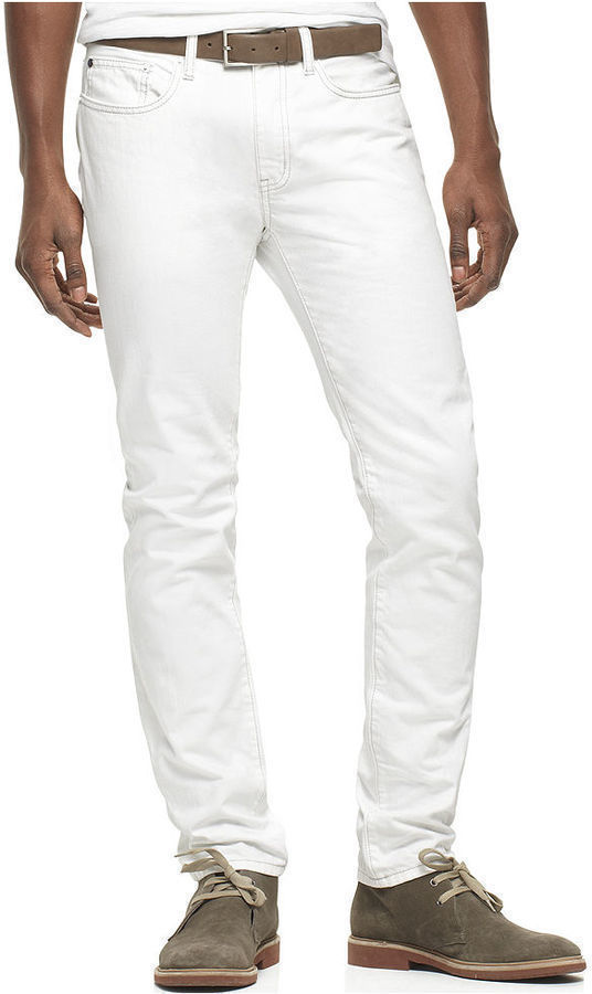 Kenneth Cole Reaction Jeans Slim Fit White Jeans | Where to buy