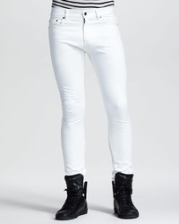 Saint Laurent Lightweight Skinny Jeans White