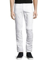 Michael Kors Michl Kors Slim Fit Stretch Denim Jeans White