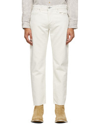 Levi's Made & Crafted Off White 502 Taper Jeans