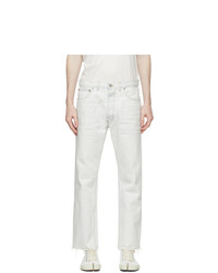 Maison Margiela Off White Bleached Jeans