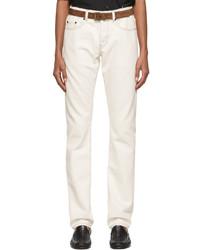 Saint Laurent Off White Slim Fit Jeans
