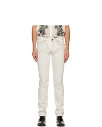 Saint Laurent Off White Straight Cut Jeans