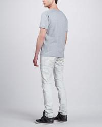 Balmain Pierre Biker Jeans White