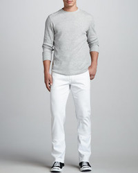 AG Adriano Goldschmied Protege Straight Leg White Jeans