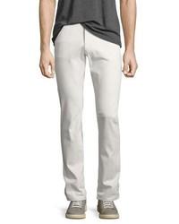 Theory Raffi Plastered Stretch Denim Slim Fit Jeans Off White
