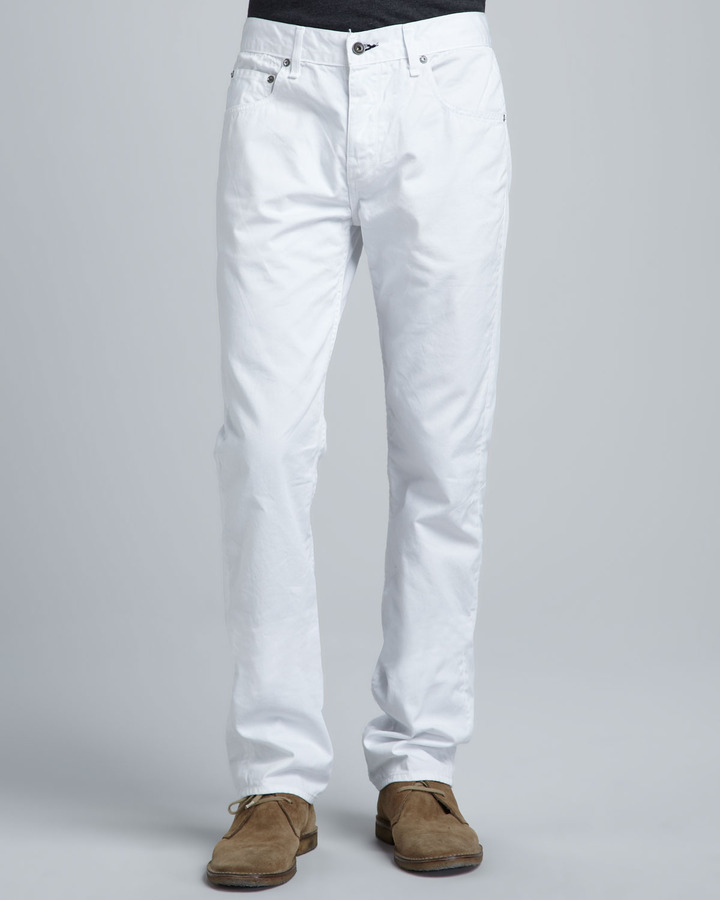Rag and Bone Rag Bone Slim White Jeans