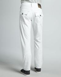 True Religion Ricky Straight Leg Jeans White