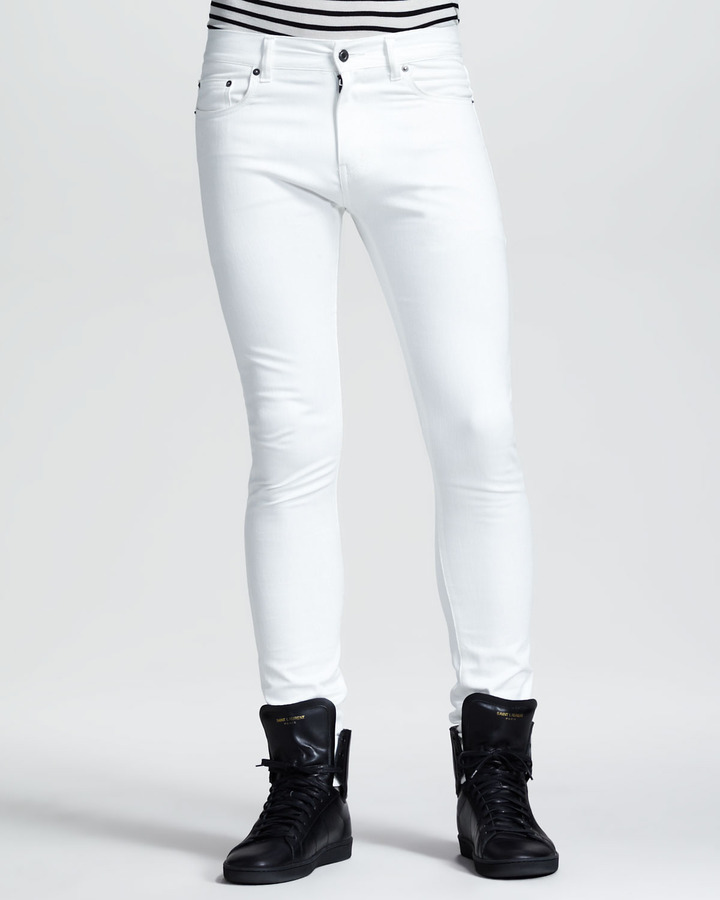Saint Laurent Lightweight Skinny Jeans White | Where to buy &amp how