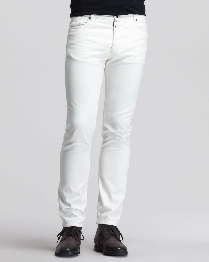 Maison Martin Margiela Slim Dean Jeans White