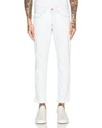 Off-White Slim Fit Crop Jeans