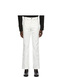 Lemaire White Boot Cut Jeans