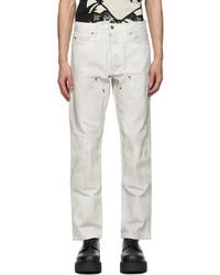 Enfants Riches Deprimes White Cargo Carpenter Jeans