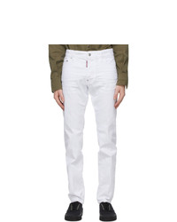 DSQUARED2 White Cool Guy Jeans
