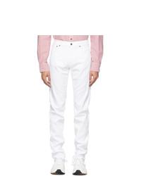 Eidos White Frayed Cuffs Jeans